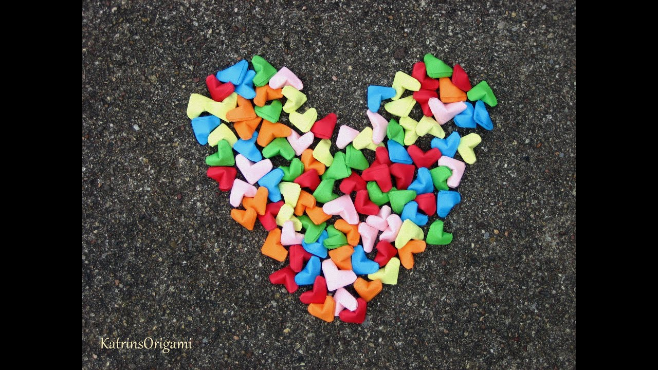 Origami ♥ Lucky Heart ♥ - YouTube - photo#47