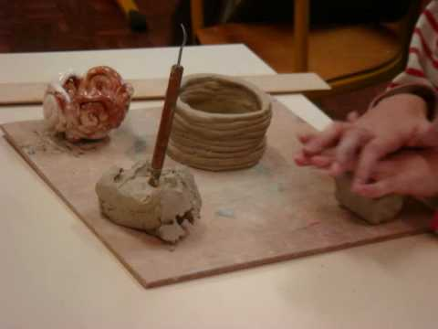 Creations d 39 enfants en poterie youtube - Faire de la poterie a la maison ...