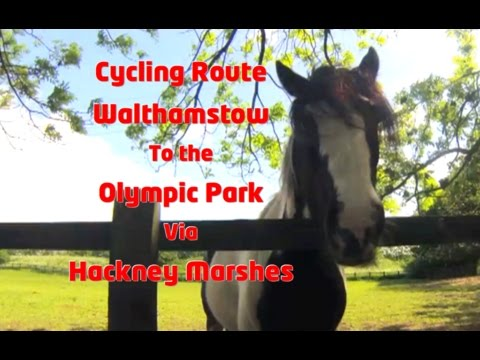 WALTHAMSTOW to the OLYMPIC PARK via HACKNEY MARSHES! A time lapse of the cycling route!