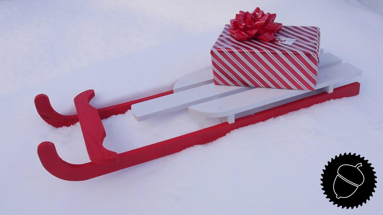 how to make a vintage sled christmas decoration youtube - Vintage Sled Christmas Decoration