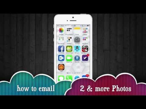 How to send pics through email on iphone