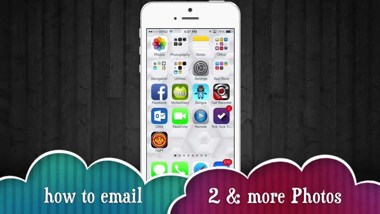 How To Send Several Pictures Email In IPhone 5s IPhone 5