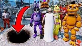 HARDEST ANIMATRONIC & GRANNY JAILBREAK! (GTA 5 Mods For Kids FNAF RedHatter)