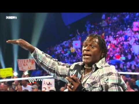 WWE - R-truth get's got by little jimmy. (the segment also has miz and christian in it)