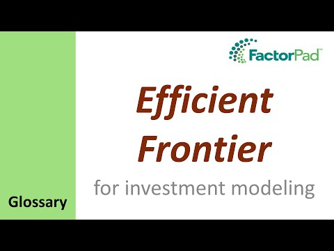 Efficient Frontier definition for investment modeling