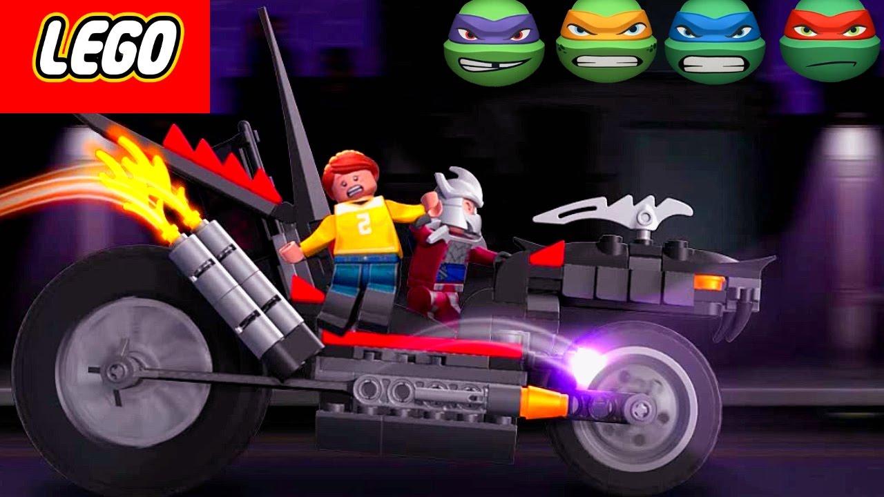LEGO April O'Neil was kidnapped by Shredder on Dragon Bike ...