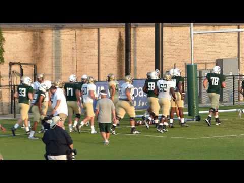 Nick Vogel UAB Team running onto field Scrimmage Aug 29 2016