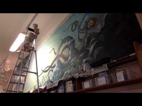 Chiba Creative - OCEAN mural timelapse