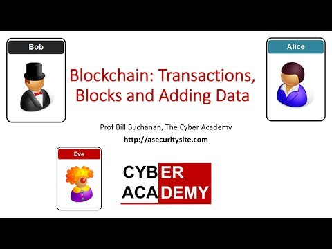 Blockchain: Transactions, Blocks and Adding Data