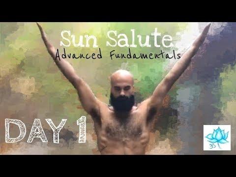 Day 1 Sun Salutation (surya namaskar) 30 minute Yoga Class