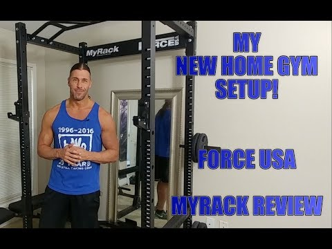Building My New Home Gym! Force USA MyRack FULL Review