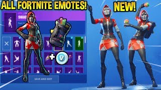 "*NEW* ""THE ACE"" SKIN SHOWCASE WITH ALL FORTNITE DANCES & EMOTES!! ($5 Starter Pack Skin!)"