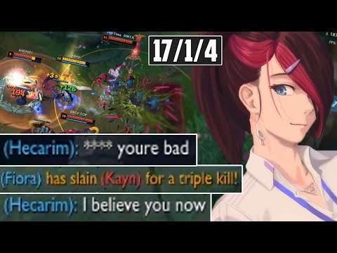 Diamond Hecarim Flames me then Realizes Why I Have a 90% Winrate Smurf | Forgotten Project Fiora