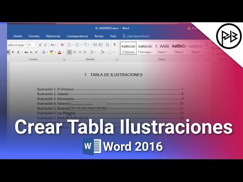 Como Crear Una Tabla De Ilustraciones En Word 2016 Paso A Paso 2017