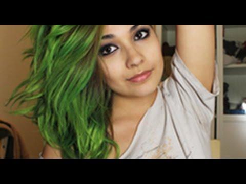 neon green hair manic