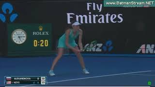 Madison Keys - Ekaterina Alexandrova | Round 2 | Australian Open 2018