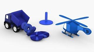 Lehrreicher Zeichentrickfilm - Die 4 kleinen Autos - Die Farbe blau