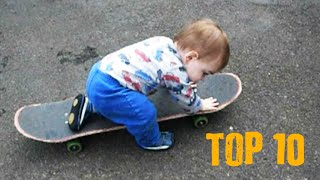 Babies Love Skateboards - Top 10 Funny And Cute Moments