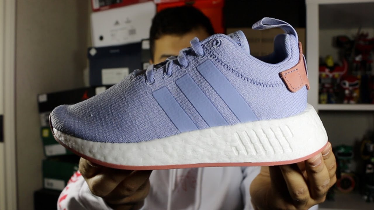 2d3aa14030d60 Adidas Women s Chalk Blue NMD R2 Review! - YouTube