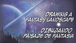 DIBUJANDO PAISAJES IMAGINARIOS - DRAWING FANTASY LANDSCAPES