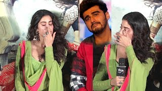jhanvi Kapoor Breaks Down Talking About Her family and Arjun kapoor dhadak trailer launch