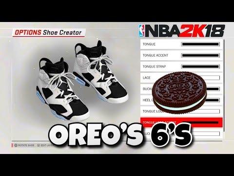 NBA 2K18 SHOE CREATOR TUTORIAL HOW TO MAKE AIR JORDAN 6 OREO BEST AIR JORDAN  RETROS IN NBA 2K18!