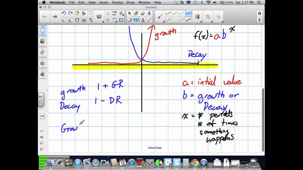Exponential Functions Grade 11 Mixed Lesson 74 51212v Youtube