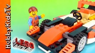 The LEGO Movie Emmet Builds His RACE CAR! Toy Review Box Open 31017 by HobbyKidsTV thumbnail