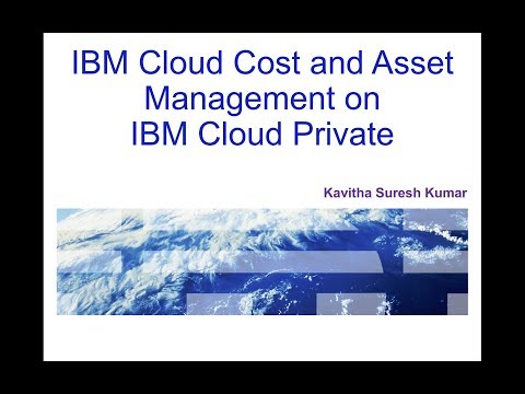 IBM Cloud Cost and Asset Management on IBM Cloud Private
