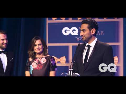 Waleed Aly Talks About Domestic Violence As He Accepts His Media Personality GQ MOTY Award
