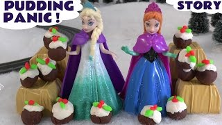 Christmas Pudding Play Doh Frozen Accident Thomas & Friends Diggin Rigs Rescue Elsa Princess Sofia