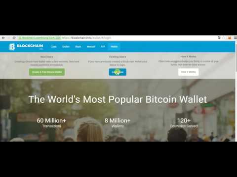 Come creare un portafoglio bitcoin (wallet) con blockchain.
