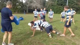ERNZ - Ruck training at Auckland Rugby International Academy