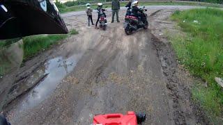 Поездка на квадроцикле irbis atv 150u lux после дождя/ ATV Andrew