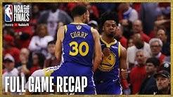 WARRIORS vs RAPTORS   Golden State Ties Up The Series!   NBA Finals Game 2