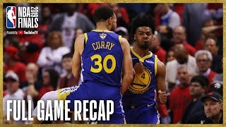 WARRIORS vs RAPTORS | Golden State Ties Up The Series! | NBA Finals Game 2