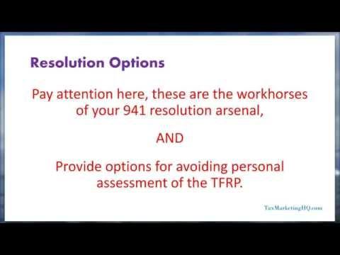 Resolving IRS Payroll Tax Debts (941 Liabilities)