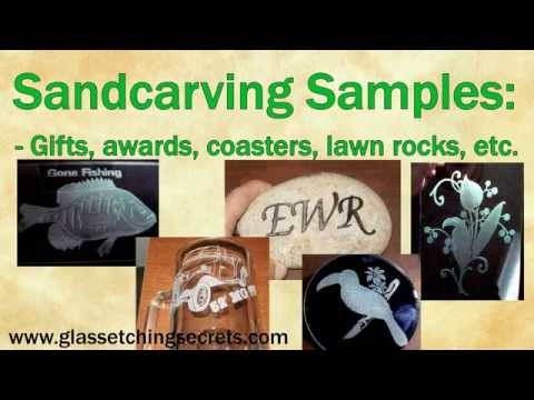 Sandcarving Equipment And Sandblasting Video