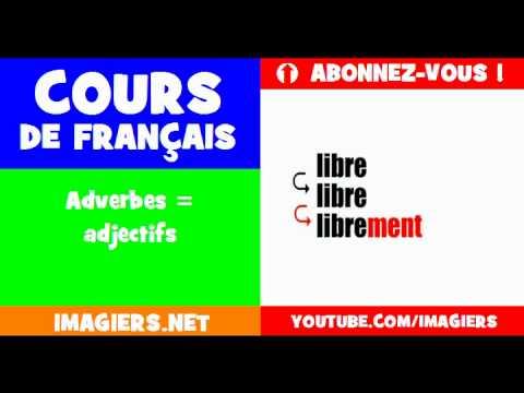 เรียนรู้ภาษาฝรั่งเศส = กริยาวิเศษณ์คำคุณศัพท์ =
