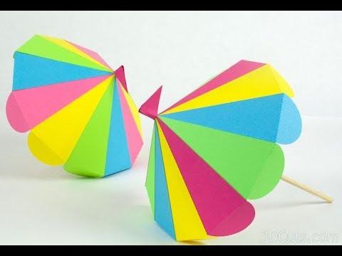 3d paper umbrella craft at home easy