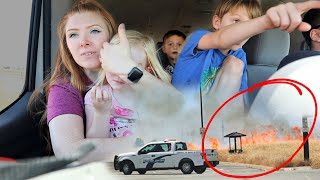 *caught on CAMERA* SCARY FIRE next to our NEW house (not clickbait)