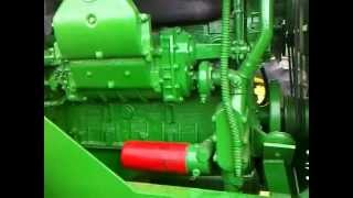 Beautifully restored John Deere 8010 2 cycle Detroit Diesel idling