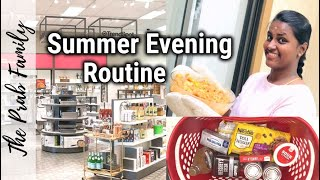 Summer Evening Routine  Target Shopping Haul  Simple Chicken Curry Recipe  #theprabfamily