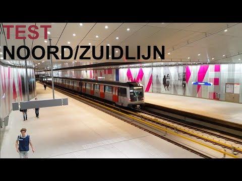 Noord/Zuidlijn Metro 52 Testreiziger - New metro line - GVB R-net Amsterdam
