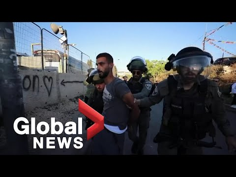 Scuffles erupt between Israeli police and Palestinians on Nakba Day