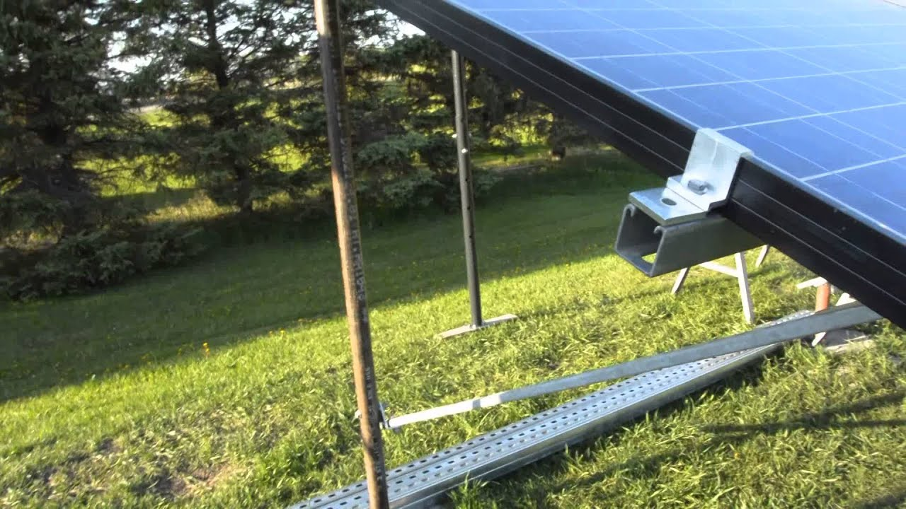 Diy Solar Panel Mount Ground Mounting Solar Panels Diy Youtube