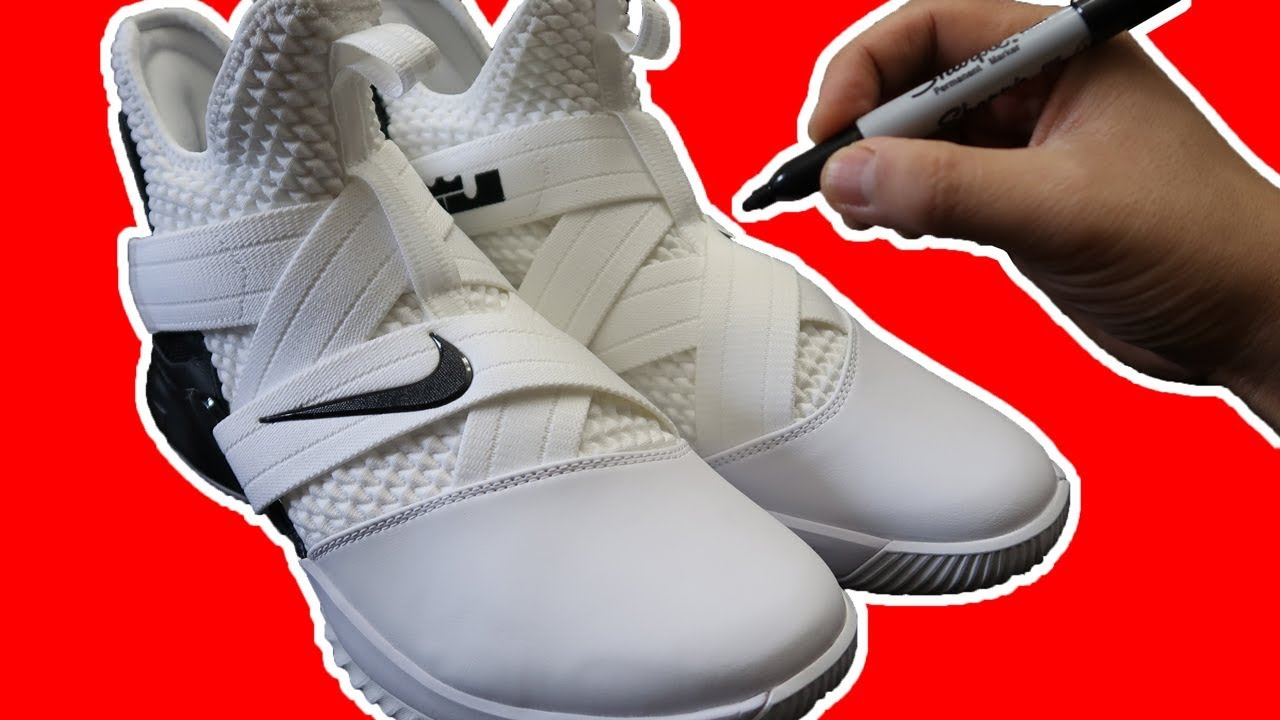sale retailer 728d6 fdbf5 Drawing LEBRON on LEBRON SOLDIER XIIs! Drawing on SHOES Art ...
