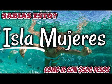 TOUR Isla Mujeres 4K - COMO IR? QUE INCLUYE? COSTO - TOUR LANCHA - WOMEN ISLAND - 동영상
