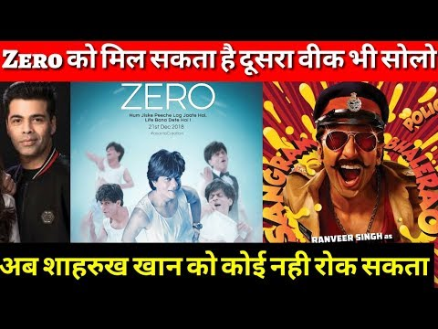No one can stop Shahrukh's ZERO to become Big HIT, as SIMBAA might get postpone