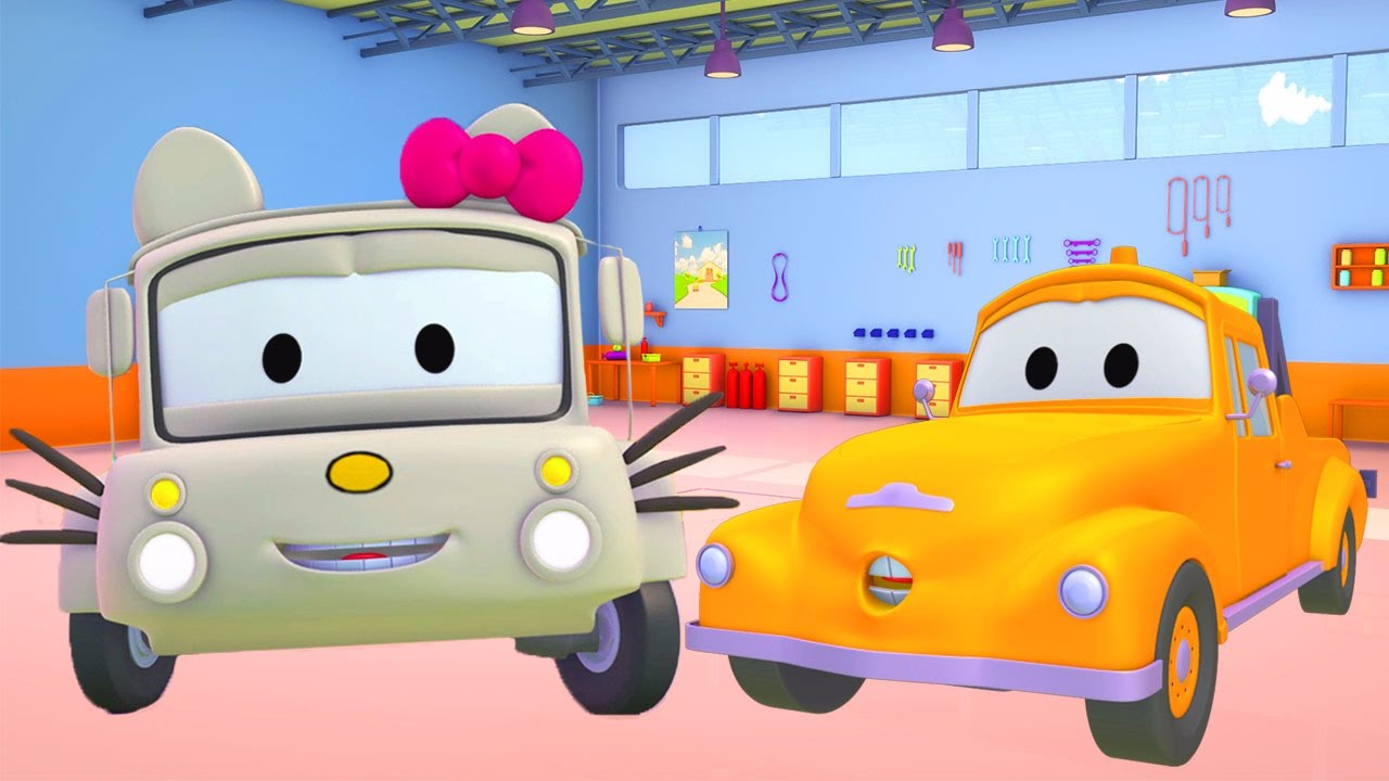 tom the tow truck u0027s paint shop lily the bus is hello kitty